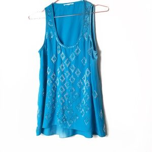 GUC Sugarlips Blue Sequined Tank Top Small